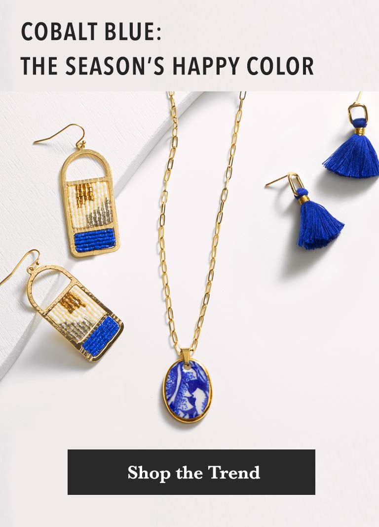 Cobalt blue: the season's happy color.