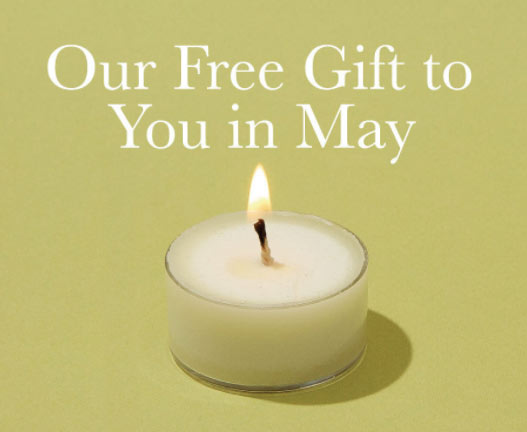 Our free gift to you in May.